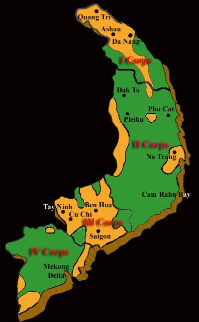 Agent Orange Spray Map Vietnam War